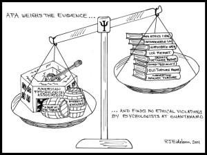 Eidelson cartoon: APA Says No Ethical Violations at GTMO