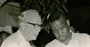 Dr. Thompson and Aaron Henry, Director, Mississippi NAACP Clarksdale, Mississippi, 1964