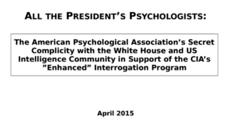 All the President's Psychologists report